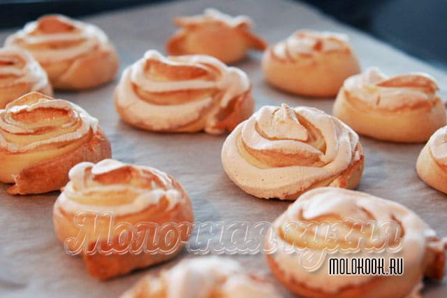 Печенье «Розы» с белковой начинкой
