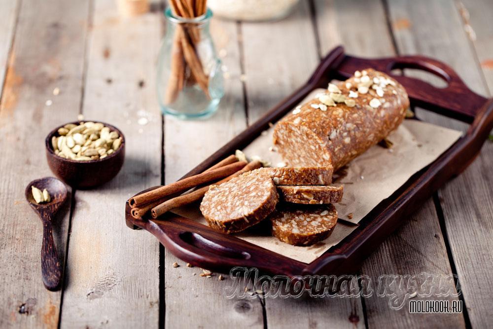 Сливочная колбаска с печеньем: рецепт с фото пошагово