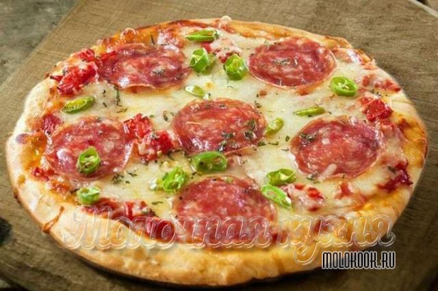 Пицца с сулугуни