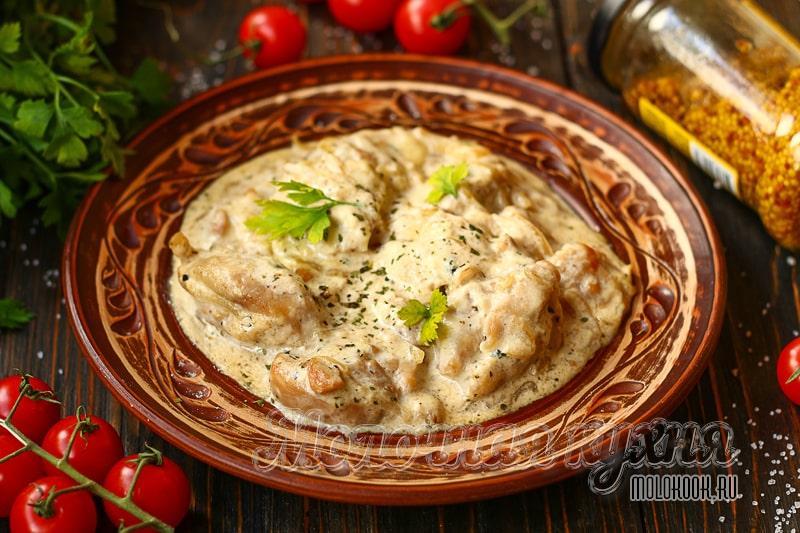 Гульчехра – нежная курица по-узбекски, тушеная в сметане и молоке
