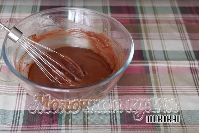 Вмешанная шоколадная масса