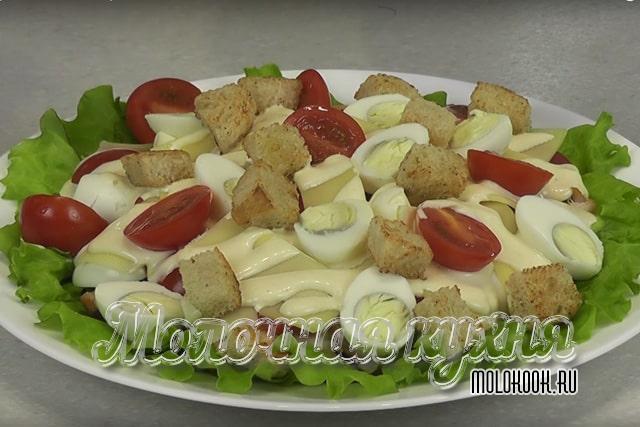 Рецпт низкокалорийного салата «Цезарь»