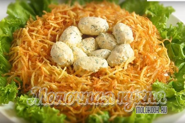 Рецепт с добавлением маринованных грибов