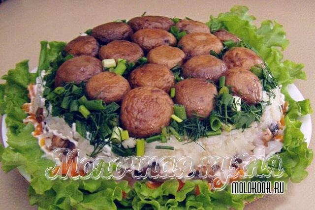 «Грибная поляна» с жареными грибами