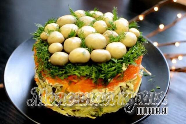 Салат с добавлением говядины
