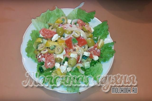 Рецепт с добавлением салатных листьев