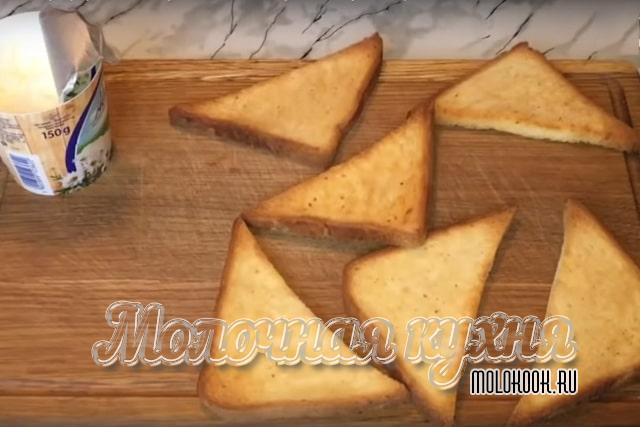 Хлеб обжарен