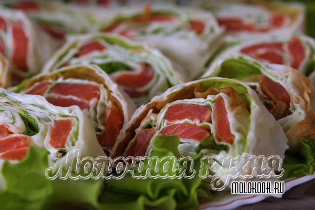 Рецепт с салатными листьями