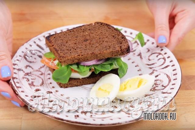 Бутерброды с лососем ПП