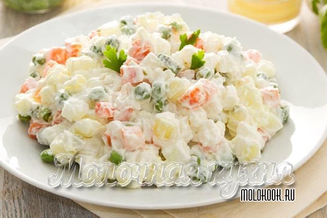 Рецепт с добавлением свежих и соленых огурцов