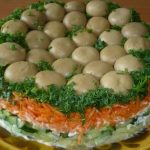Праздничный салат «Грибная поляна» с грибами-шампиньонами – самые вкусные рецепты
