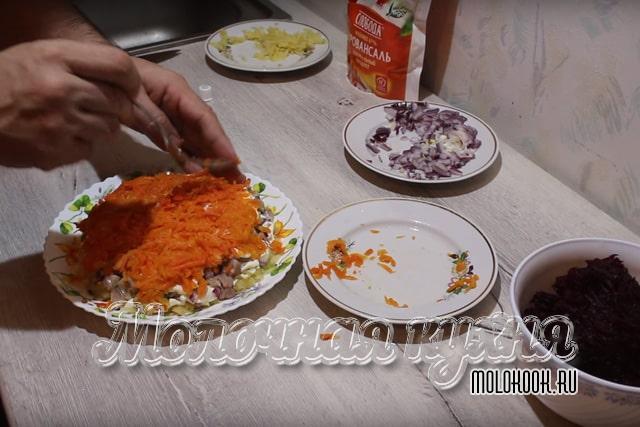 Распределение морковного слоя