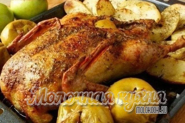 Рецепт утки с начинкой из айвы