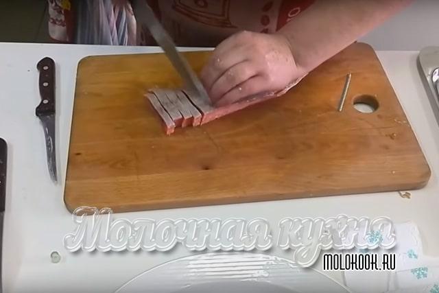 Нарезка рыбного филе