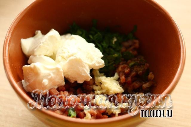 Ингредиенты начинки в миске