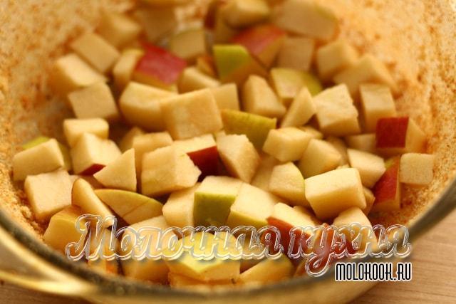Кусочки яблок в форме