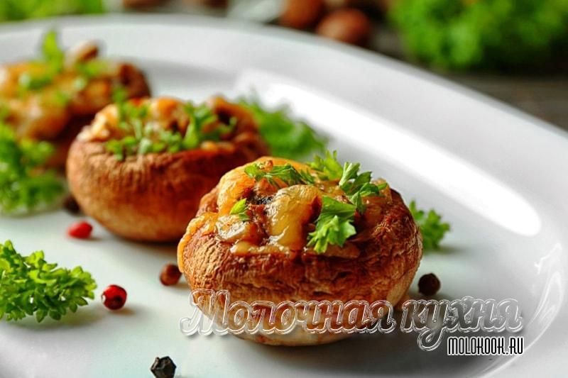 Рецепты фаршированных шампиньонов в духовке