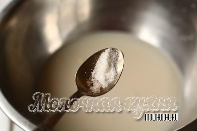 Добавление повареной соли