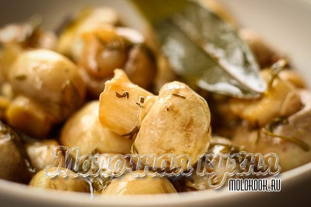 Вариант маринования грибов за 15 минут