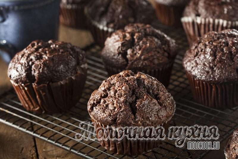 Рецепт шоколадных маффинов с порошком какао
