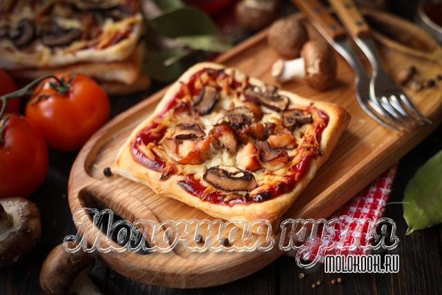 Рецепт с грибами и курицей