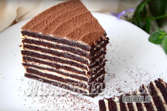 Рецепт торта Спартак - Медовика из шоколадно-медовых коржей