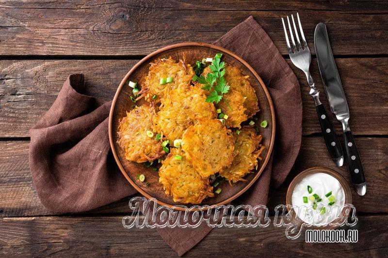 Драники из картошки - классический рецепт