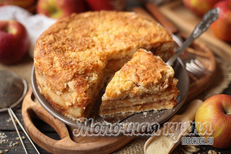 Рецепт насыпного пирога с яблоками