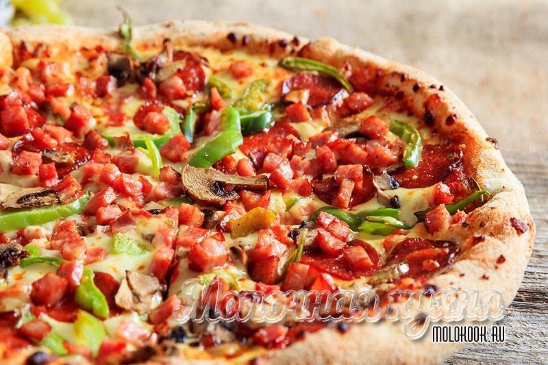 Домашняя пицца из теста на кефире