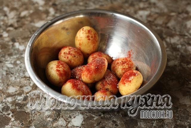 Приправленный картофель