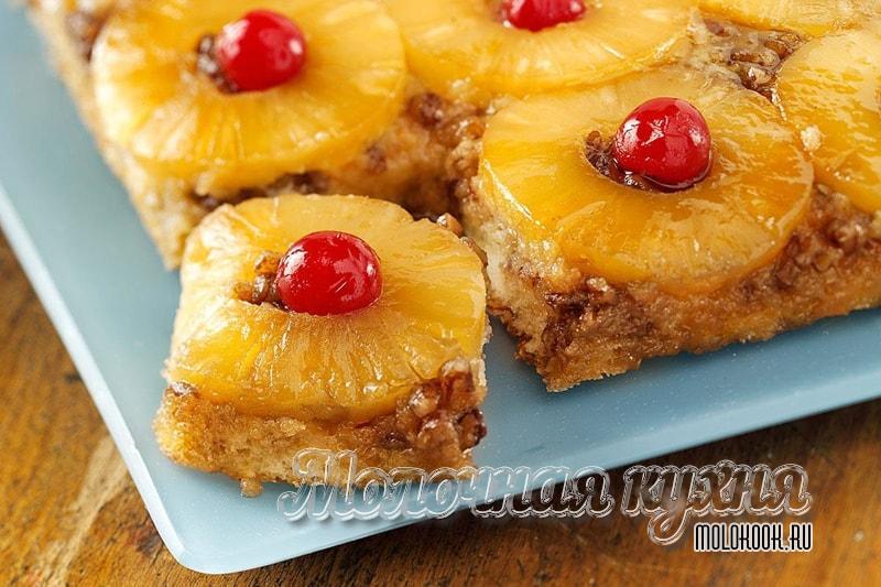 Рецепт пирога с ананасовыми кольцами