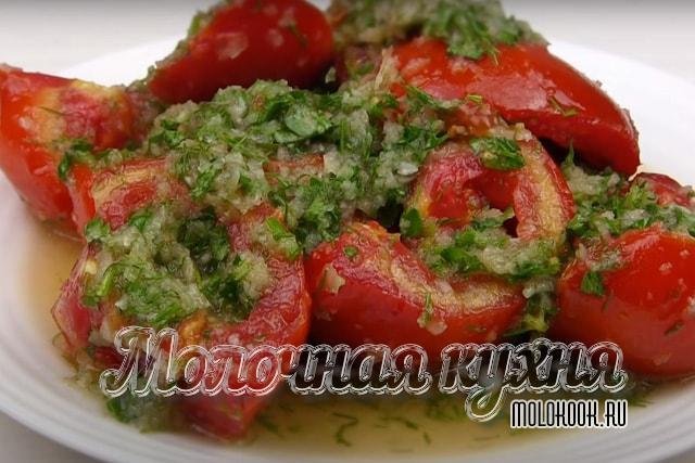 Суточные томаты, маринованные в корейском стиле