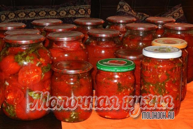Рецепт консервированных помидоров в корейском стиле без стерилизации