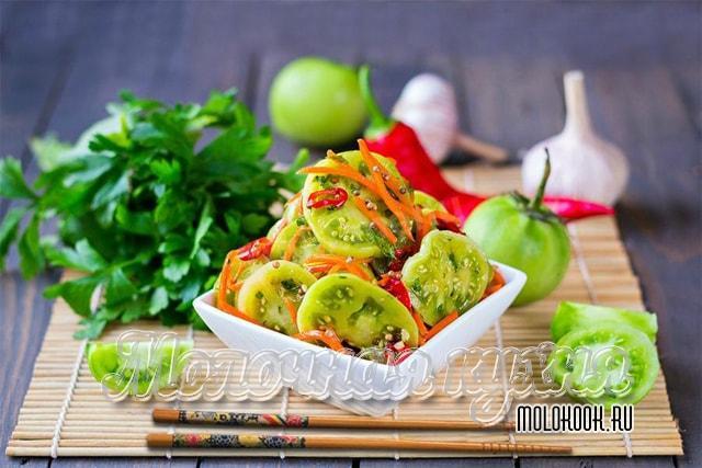 Рецепт с зелеными (недозревшими) томатами