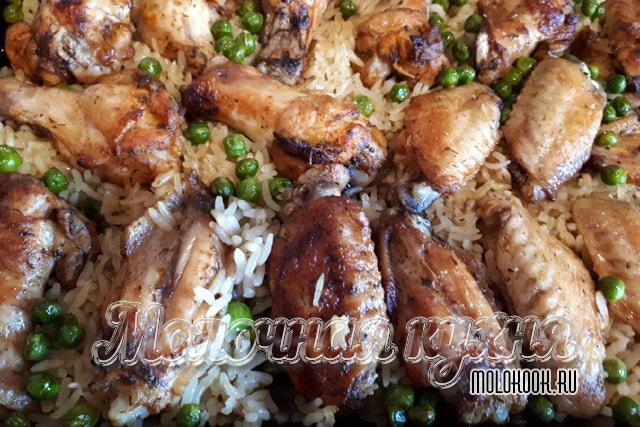 Рецепт в фольге, с добавлением риса