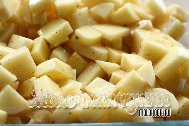 Картошка выложена
