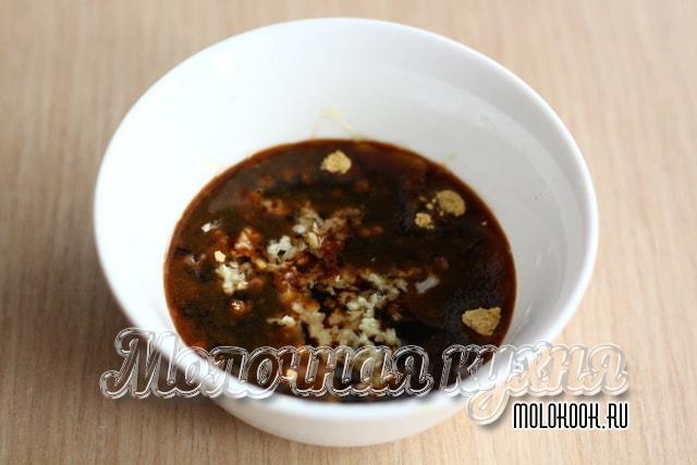 Соево-медово-горчичный маринад