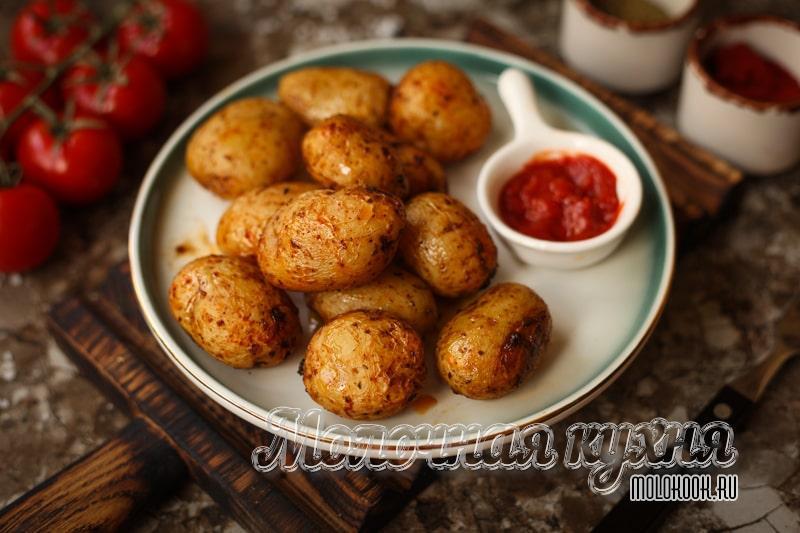 Рецепт запеченного молодого картофеля
