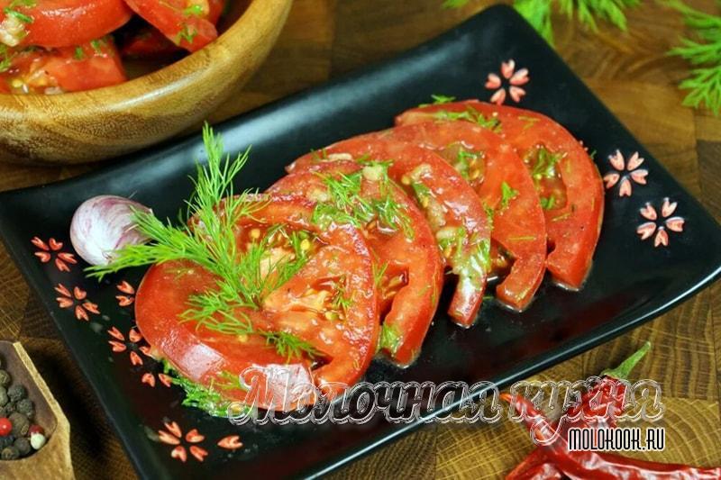 САмые вкусные маринованные помидоры по-корейски