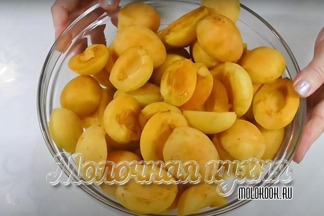 Почищенные абрикосы