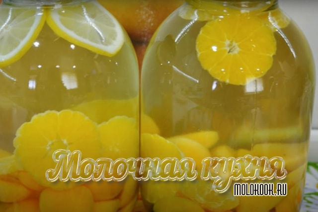 Абрикосов-цитрусовый компот