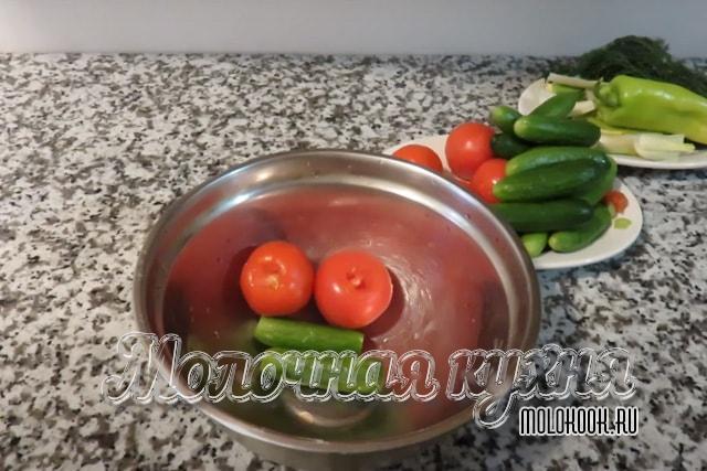 Подготовка овощей к засолке