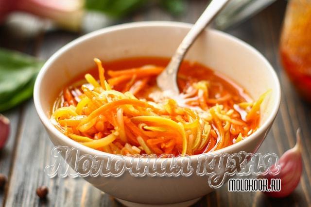 Кабачковый салат по-корейски без стерилизации