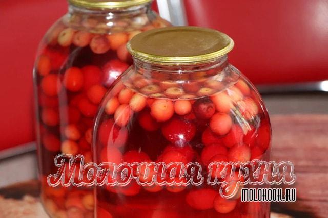 Рецепт вишневого компота впрок на 3 л