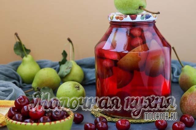 Рецепт из вишни и груш