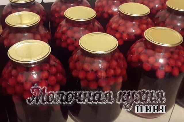 Компот впрок из ягод вишни и черешни