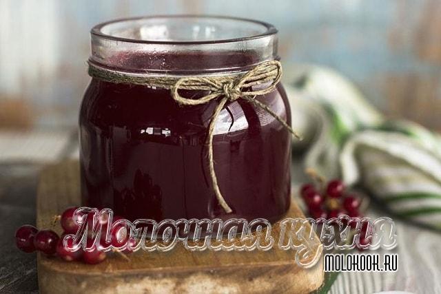 Смородиново-вишневое желе без добавления сахара