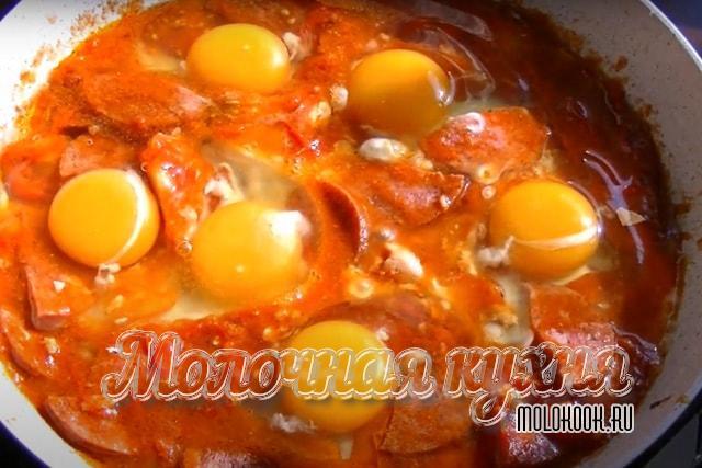 Яйца вбиты