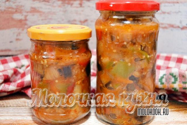 Рецепт кабачково-баклажанного салата «Тещин язык»