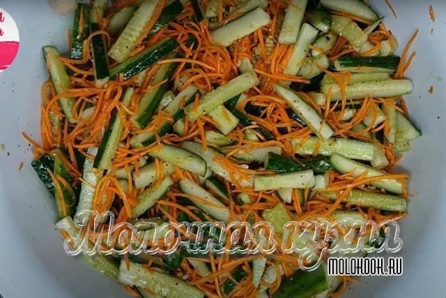 Овощи после перемешивания